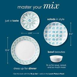 Photo that shows coordinating Amalfi Verde plates