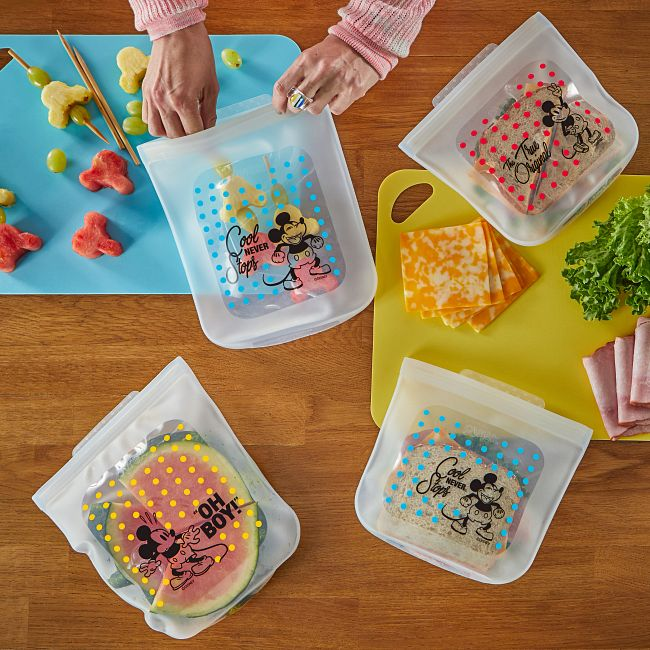 Mickey Mouse 4-piece Silicone Bag Set