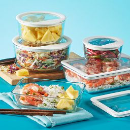 Ultimate 10-pc Storage Set with Food in Dishes