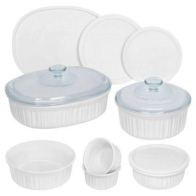 French White 12-piece Bakeware Set