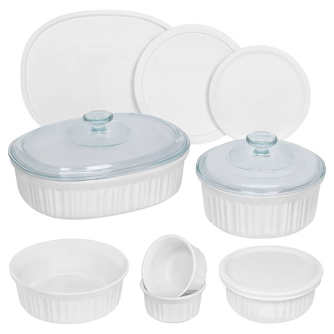 French White 12-piece Bakeware Set