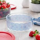 Simply Store 4 cup Stars Swirl Storage Dish w/ Red Lid
