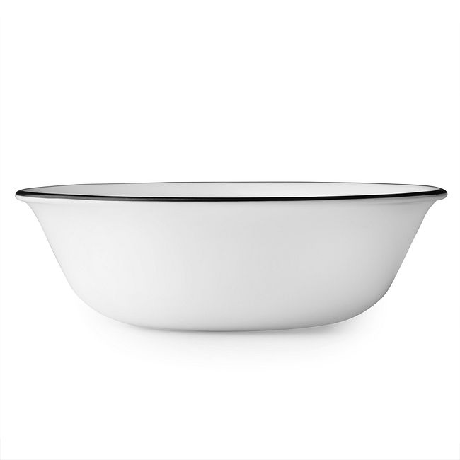 Livingware Beads 18-oz Bowl, Black & White