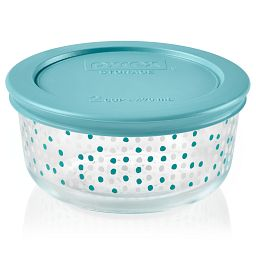 Doodles 2-cup Glass Food Storage Container with lid on (lid is sold separtely)