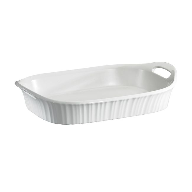 French White 3-quart Casserole Dish