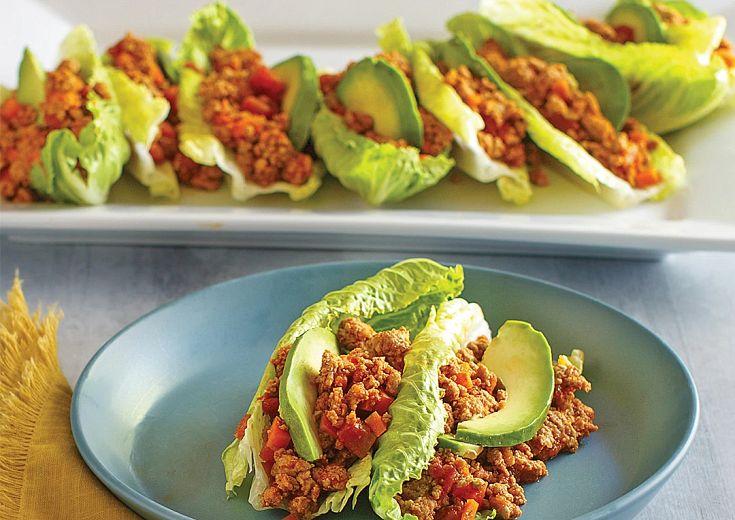 Turkey Taco Lettuce Bowls in Instant Pot