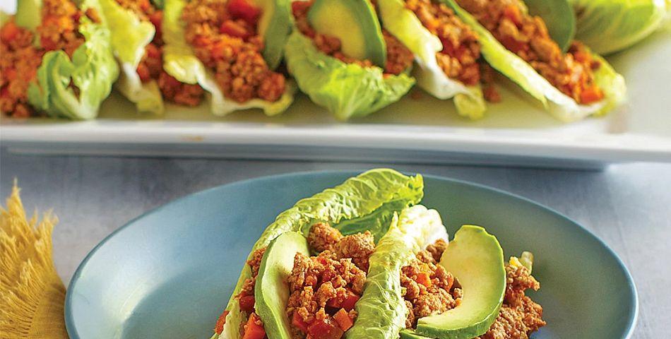 Turkey Taco Lettuce Boats