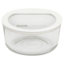 Ultimate 4 Cup Round Storage Dish  White