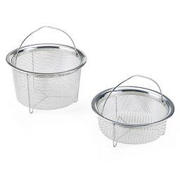 Mesh Steamer Basket 2-piece Nesting & Crisp Set