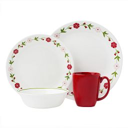 Livingware™ Spring Pink 16-pc Dinnerware Set