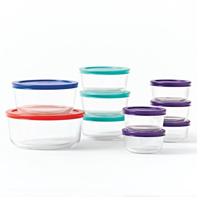 Simply Store 20-pc Round Storage Set w/ Multi-Colored Lids