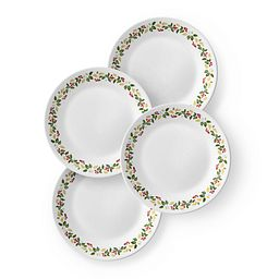 "Classic Holiday Berries 6.75"" Plate Set  4-pk"