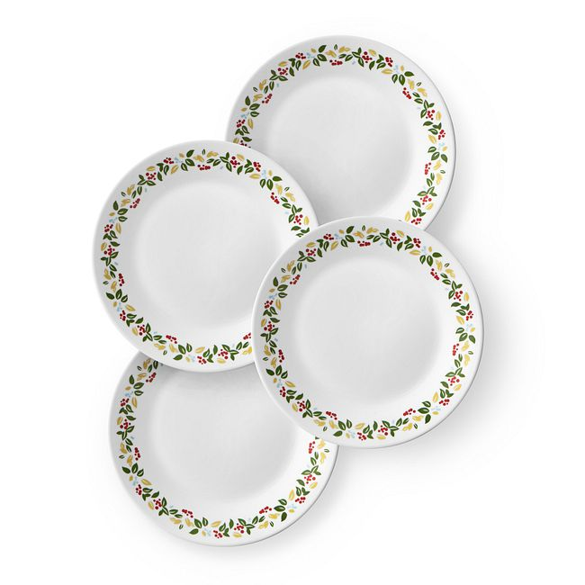 "Holiday Berries 6.75"" Plate Set, 4-pk"
