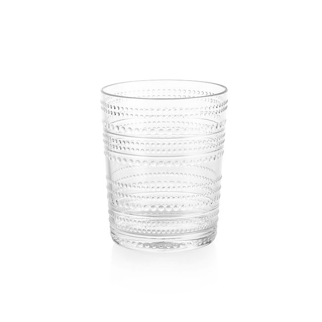 Clear Beaded 15.6-ounce Acrylic Tumbler