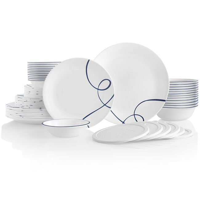 Lia 66-piece Dinnerware Set, Service for 12