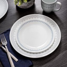 Corelle Evening Lattice 16-pc Dinnerware Set on table