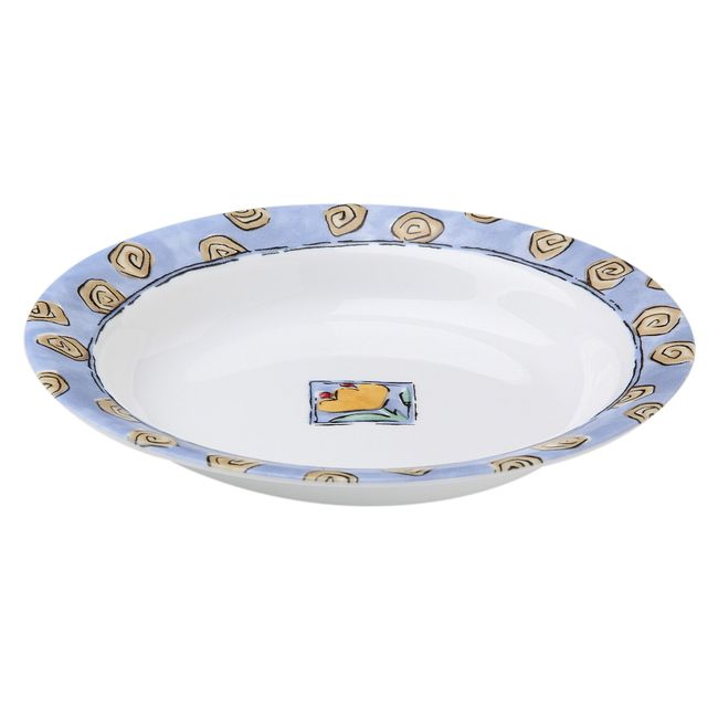 Watercolors 15-ounce Rimmed Cereal Bowl