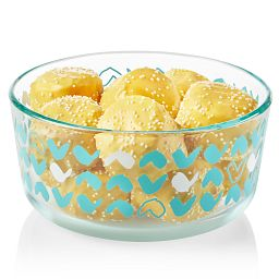 Doodles 4-cup Glass Food Storage Container with cookies inside