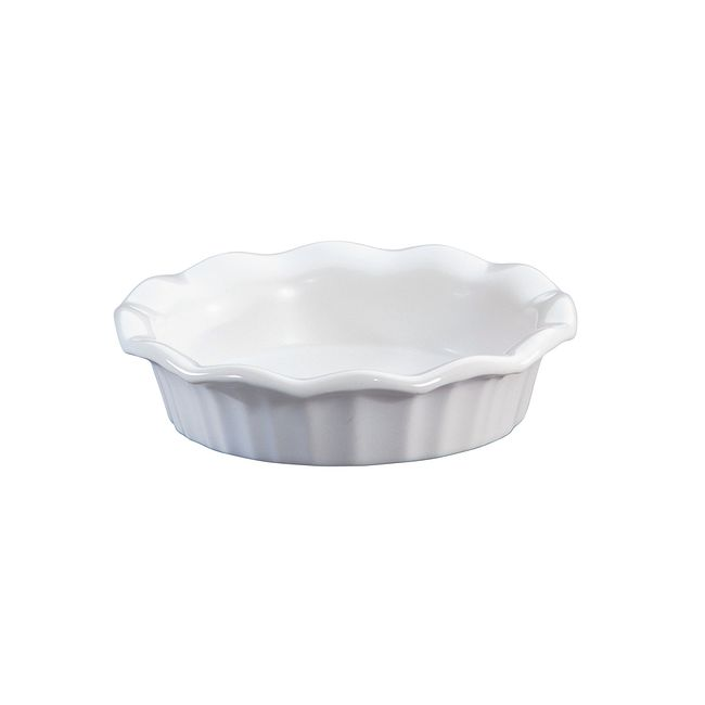 "French White 5.25"" Mini Scalloped Pie Plate"