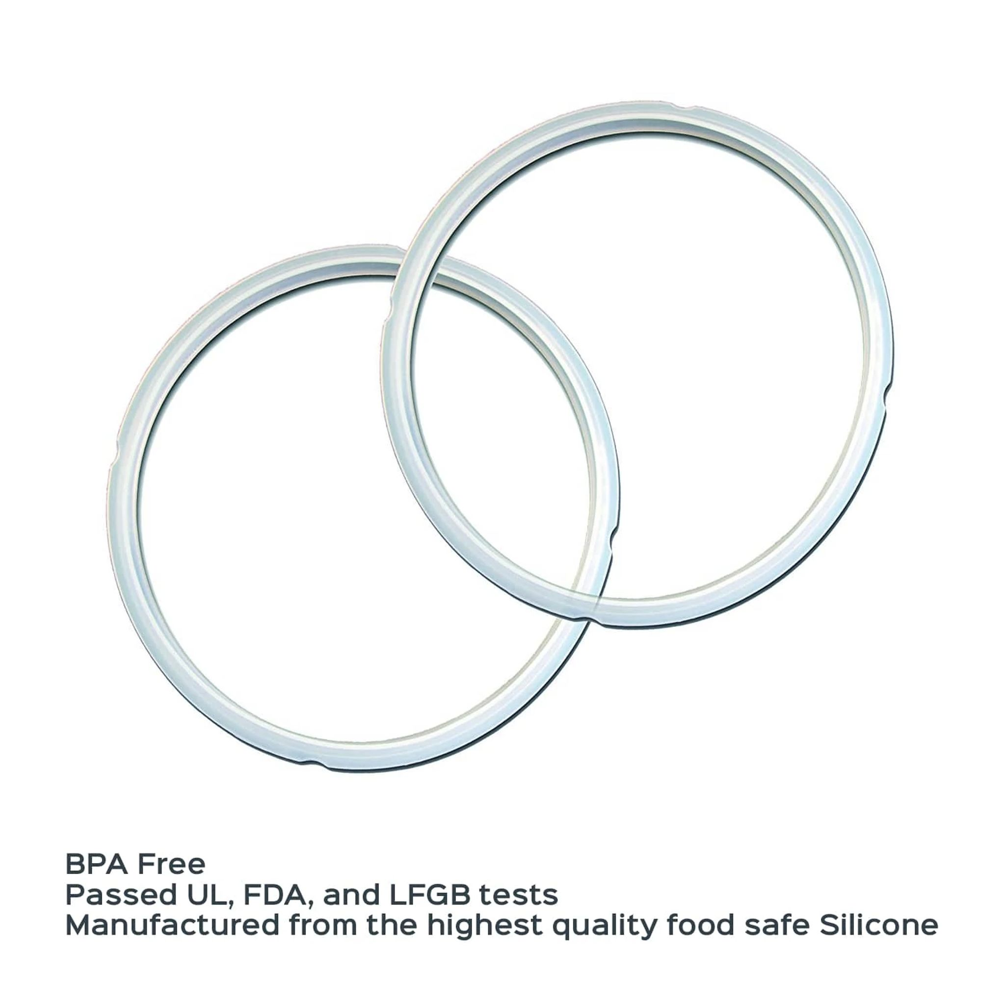 Instant Pot 5 & 6-quart Clear Sealing Ring, 2-pack