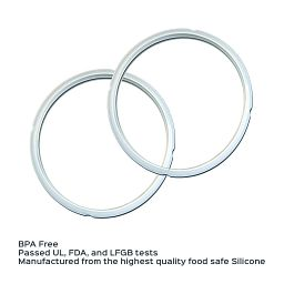 Instant Pot 5 and 6-quart Clear Sealing Ring, 2-pack