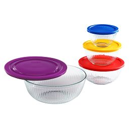 Sculpted 8-pc Mixing Bowl Set
