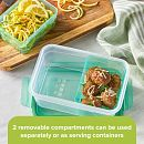 Meal Prep Divided: 4.6-cup Rectangle Storage Container, 2-Section