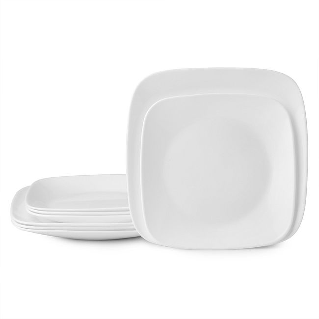 Vivid White Salad and Dinner Plate Set, 8-pack