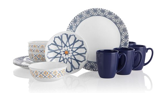Amalfi Azul 16-pc Dinnerware Set
