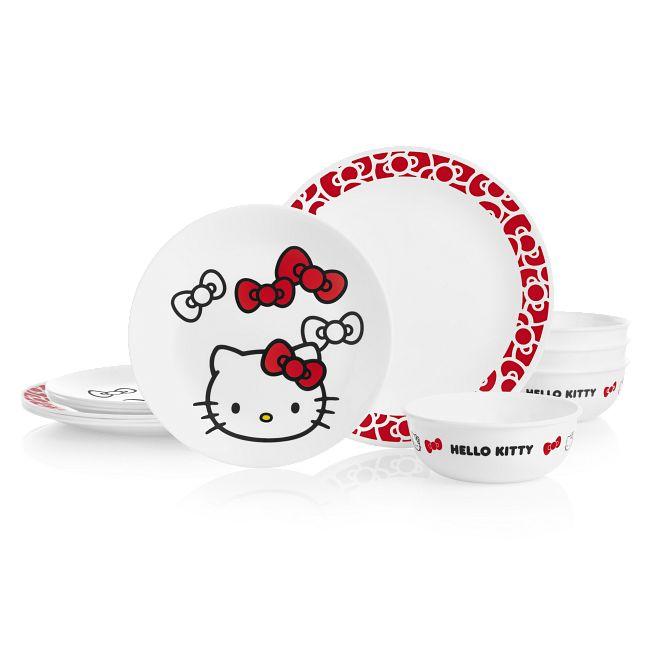 Hello Kitty® 12-piece Dinnerware Set, Service for 4