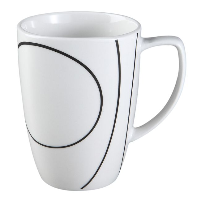 Square Simple Lines 12-oz Porcelain Mug