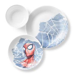 Marvel Spider-Man 3-piece Dinnerware Set showing top view