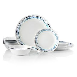 Ocean Blues 18-pc Dinnerware Set Front View