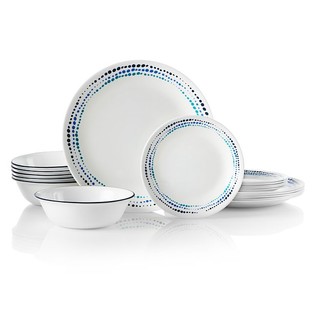 Livingware Ocean Blues 18-pc  Dinnerware Set
