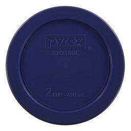 2 Cup Dark Blue Round Plastic Lid