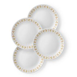"Classic Dancer  &  Prancer 8.5"" Plate Set  4-pk"