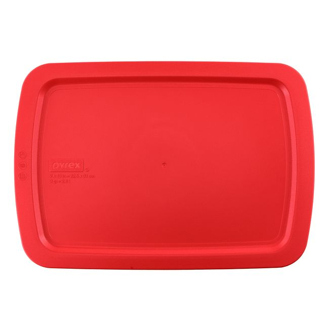 Red Lid for 3-quart Rectangular Glass Baking Dish