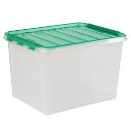 "Smart Store® 18"" x 12"" Home Storage Container with Green Handles"