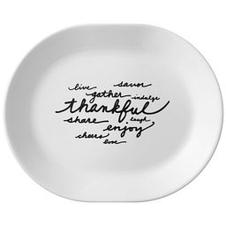 "Celebrations Thankful 12.25"" Serving Platter"