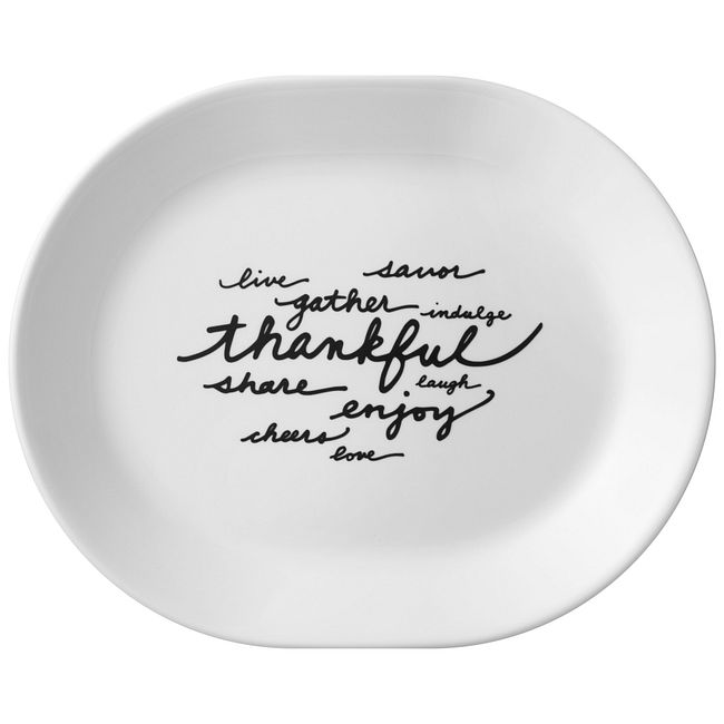 "Livingware Celebrations Thankful 12.25"" Serving Platter"