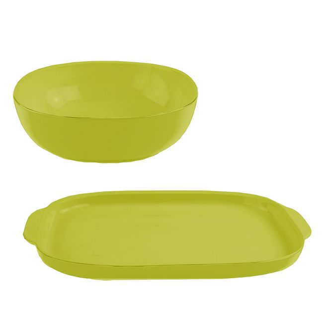 2-piece Green Serving Set