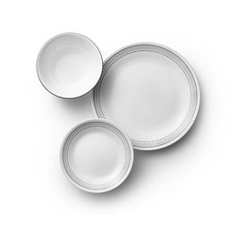 Mystic Gray 18-pc Dinnerware Set Top View