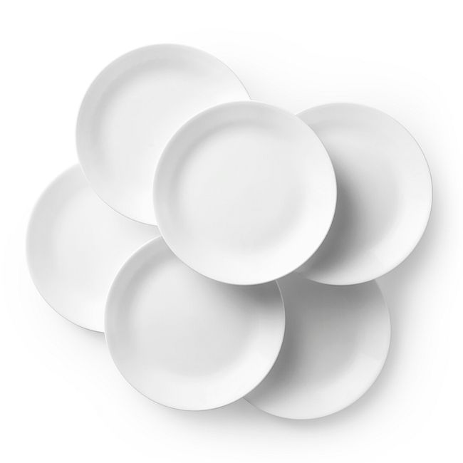 "Livingware Winter Frost White 10.25"" Plate Set, 6-pk"