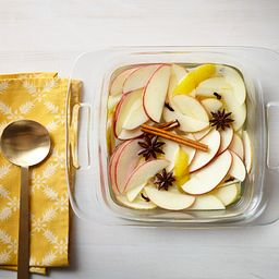 "Easy Grab 8"" Square Baking Dish with Apples in Dish"