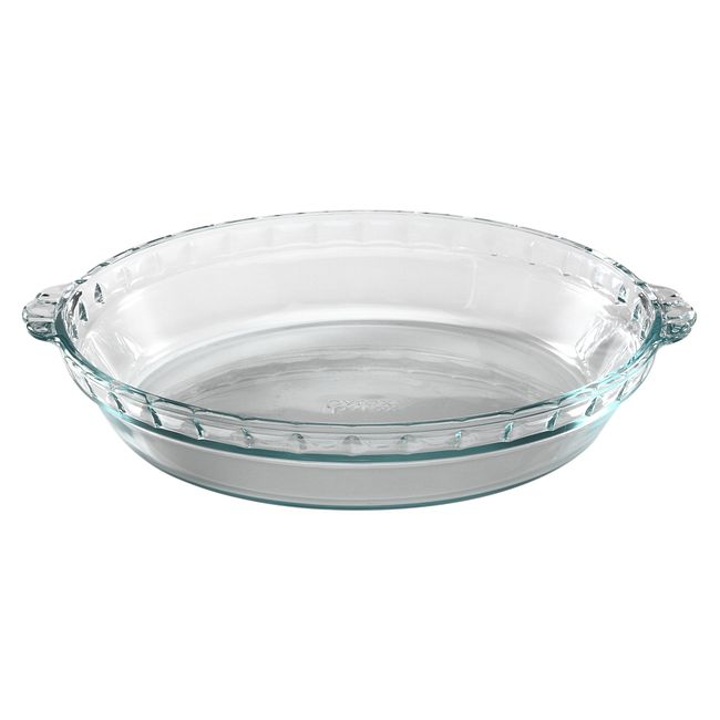 "9.5"" Glass Pie Plate"