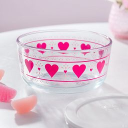 Smitten 4 Cup Decorate Storage Dish on table