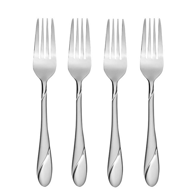Swirl Sand 4-pc Dinner Fork Set