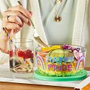 Happy Pride 4-cup Glass Food Storage Container with Lid