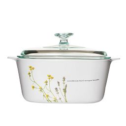 Stovetop™ Pyroceram® European Herbs 3L Casserole w/ Glass Cover