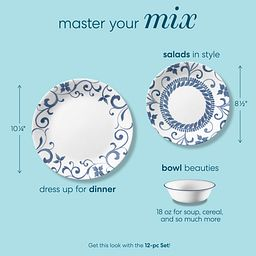 Master your mix text showing sizes of plates and bowl for Artemis